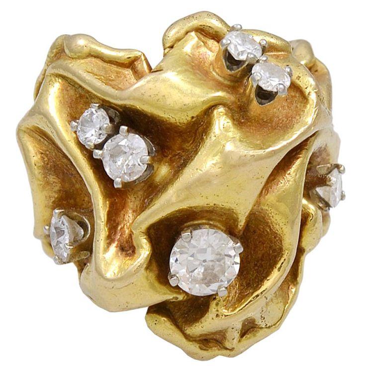 Gilbert Albert Gold and Diamond Ring