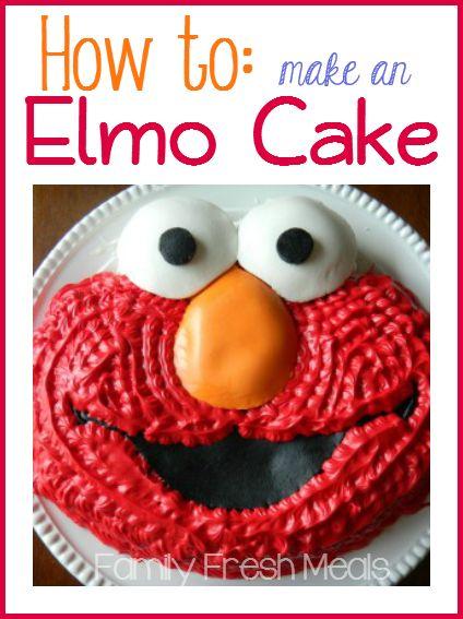 How to make an Elmo Cake (starts with an Elmo cake mold)
