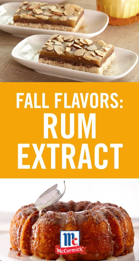 Fall Flavors: Rum Extract