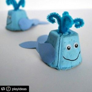 egg carton dolphin craft