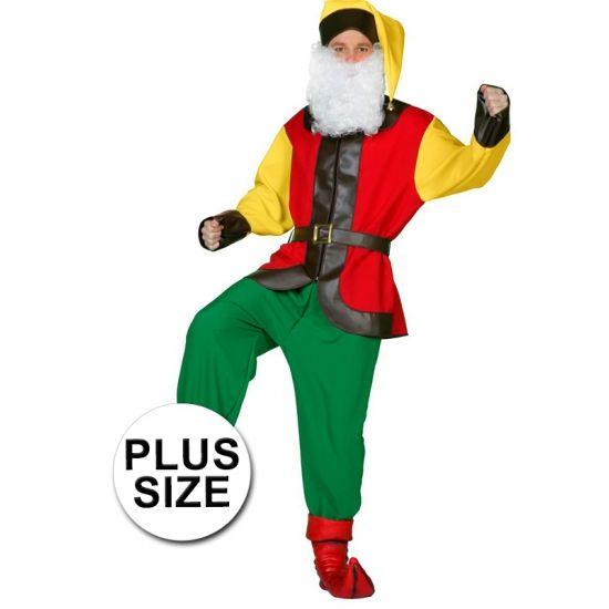 Grote maten kabouter kostuum voor volwassenen. Compleet kabouter kostuum voor volwassenen bestaande uit een broek, shirt met riem en muts. Baarden zijn los verkrijgbaar in onze webshop.