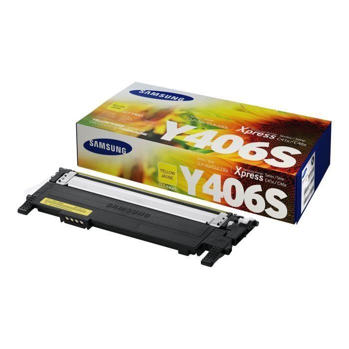 Cartouche de toner jaune Samsung CLT-Y406S (SU462A) pour SS062B/CLP-365 CLX-3300/CLX-3305