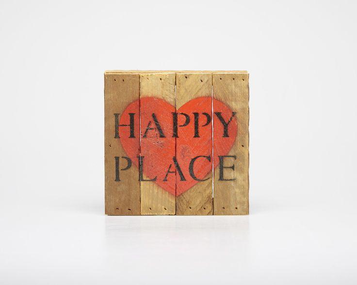 Heart + Happy Place - Wood Slat Print #pintowinMH