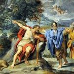 Domenichino,  Giovanni Battista, Andrea e Giovanni, 1623-28, Chiesa Sant'Andrea della Valle, Roma.