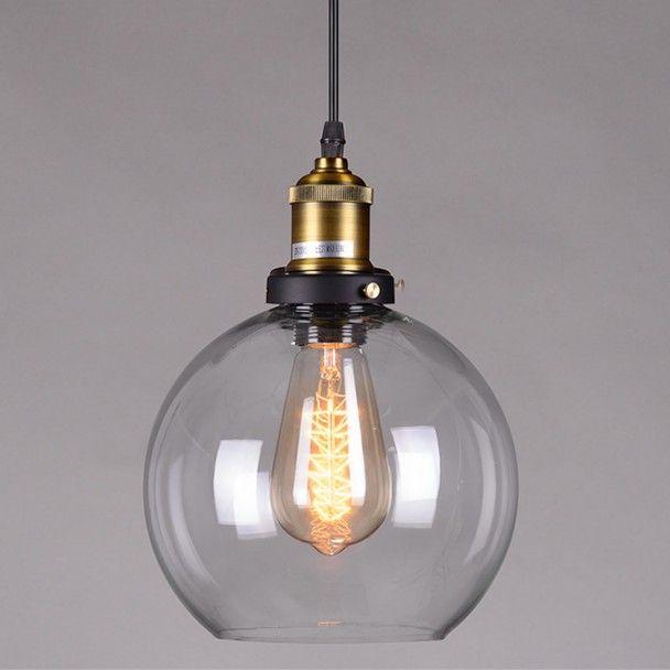 Hanglamp design bol transparant glas Olivia. Design led hanglampen van goede kwaliteit