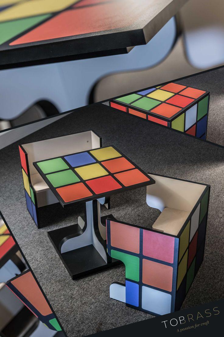 #inventive #furniture #rubixcube #design #tableandchairs #furnishings #brightcolour #interiour #multicolour #bright #education