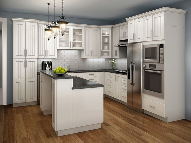 WHITE, so elegant, bright and modern. Our Santos can work in modern, classic or cottage looks EuroRite Cabinets - Available at Yorkton Building Supplies.
