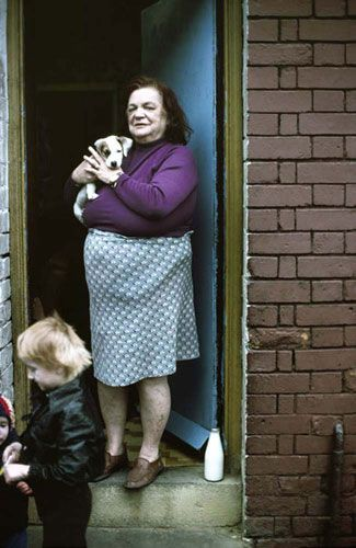 John Bulmer - Manchester (1977)   For Bulmer's last assignment in the north of England, Geo magazine wanted images that showed a new, vibrant Manchester. This series of photographs was not well received at the time, but is regarded today an important social documentary
