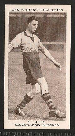 Wolverhampton Wanderers - S Cullis - Football cards - Year 1939 - Association Footballers - 2nd Series football cards