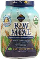 Garden of Life Organic RAW Meal™ Vanilla.  About $1 per 150 calorie portion.  Not a bad place to start, could use this and see if missed the supplements that the others contain
