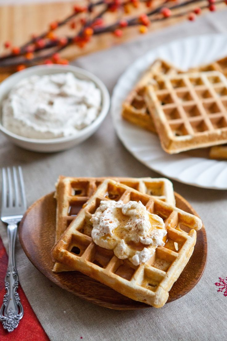 Make-Ahead Recipe: Eggnog Waffles with Spiced Whipped Cream — Recipes from The Kitchn