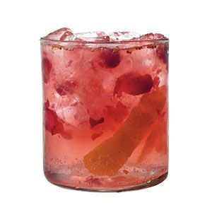 Orange-Cranberry Gin and Tonic ~ (gin, tonic water, fresh orange juice, fresh