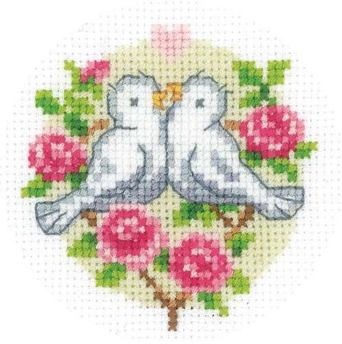 Doves Wedding Card Cross Stitch Kit | Card Kits | Cross Stitch ...