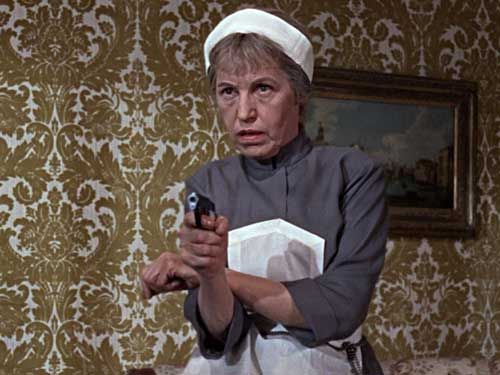 "Actress Lotte Lenya interpreting Rosa Klebb of SPECTRE in ""From Russia with love"", 1963"