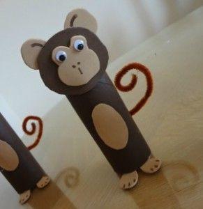 Craft Time Toddler Fun: Toilet Paper Roll Monkeys
