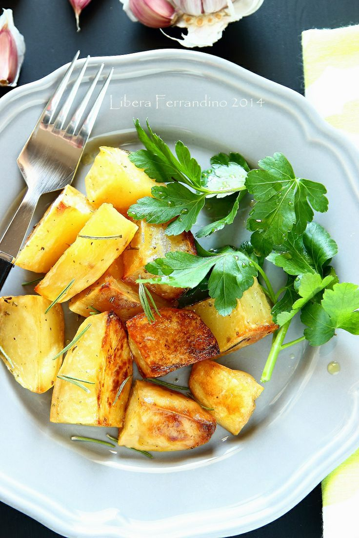 patate arrosto all'aglio senza glutine