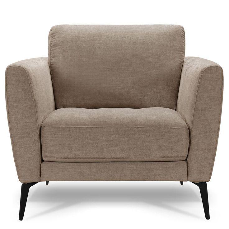Attica Fabric Armchair Mink | Fabric armchairs, Armchair ...