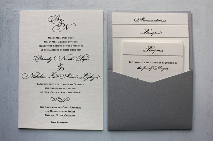 Elegant Monogram Wedding Invitations: 25+ Best Ideas About Traditional Wedding Invitations On