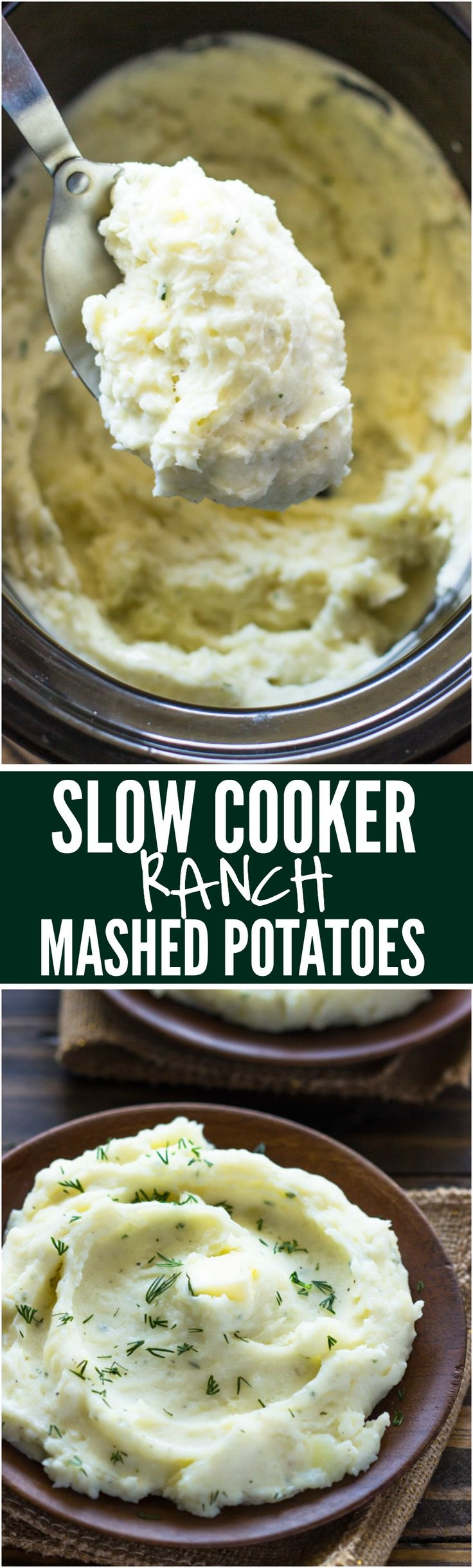 Creamy, fluffy, and extremely delicious. Mashed potatoes just got a whole lot better with the addition of ranch. Plus, it's all done in your slow cooker.