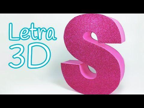 Cómo hacer Letras de Cartón en 3D - Decora tu cuarto - Manualidades con Cartón - Catwalk - YouTube