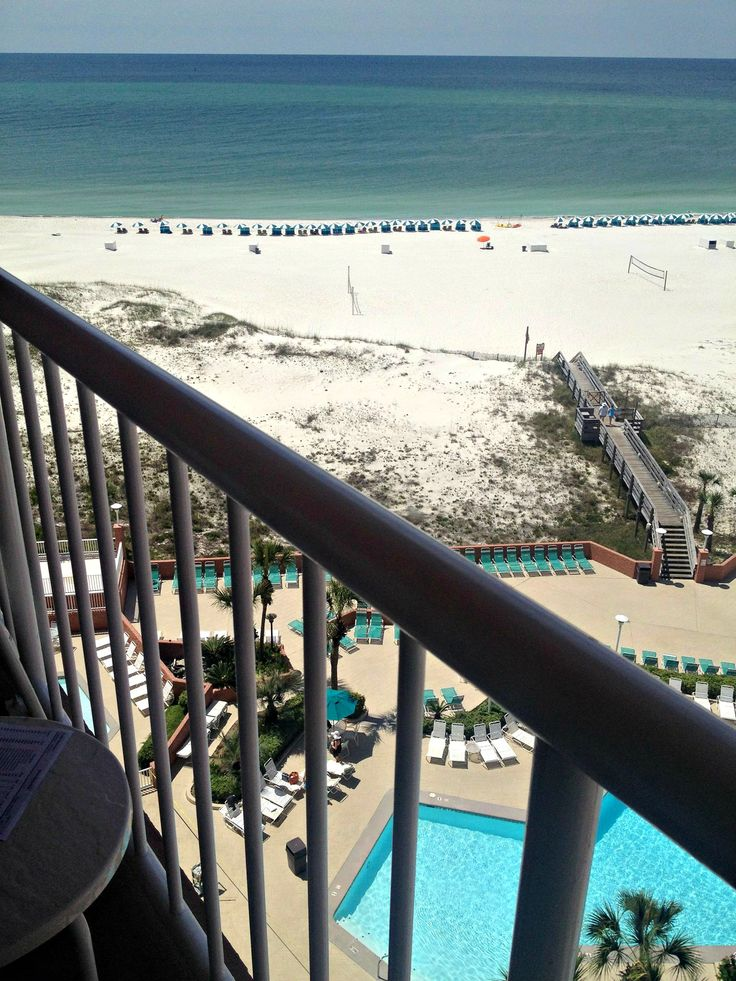 Balcony view at the Perdido Beach Resort in Orange Beach
