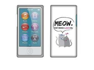 Apple iPod Nano 7 (7th Generation) Hard Case Cover - Cat Love