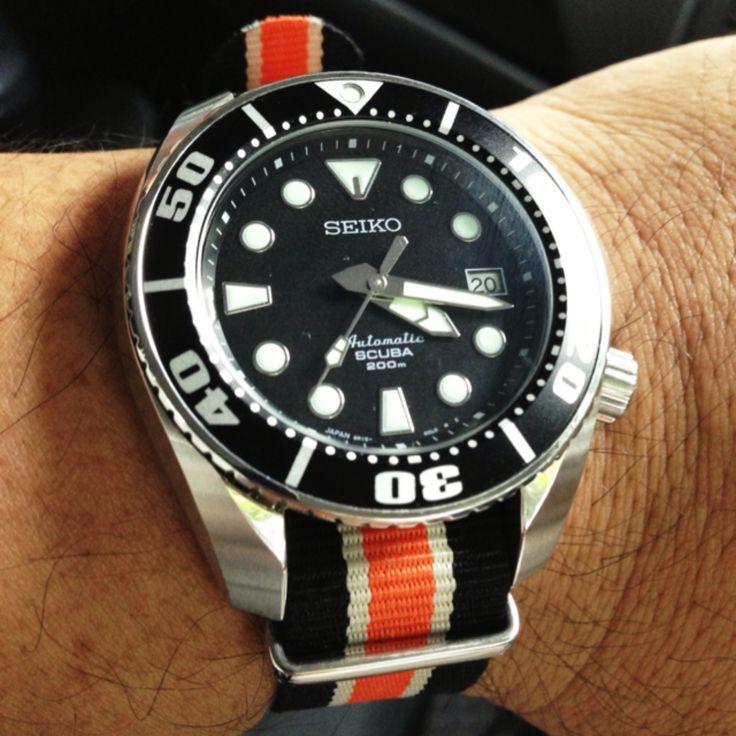 Seiko Sumo on Nato Strap | My Watches | Pinterest | Nato ...