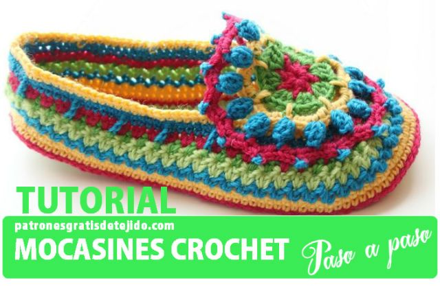 ergahandmade: Crochet Μoccasins + Diagram + Free Pattern Step By Step