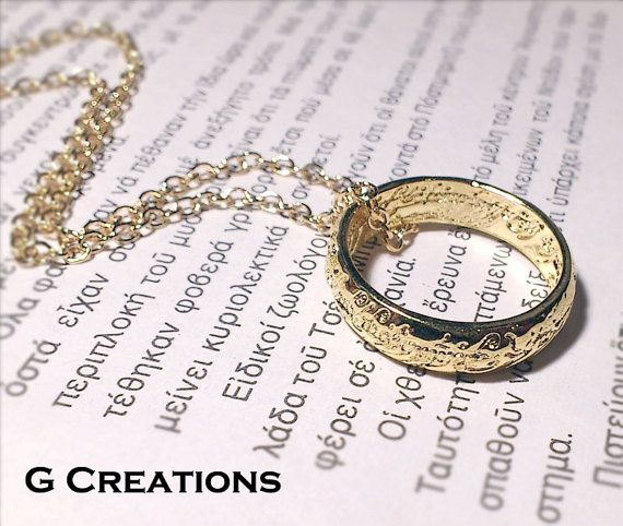 LOTR Lord of the Rings ring Necklace  The by GabriellesCreations, €6.50 #doctorwho #harrypotter #lotr #jewelry