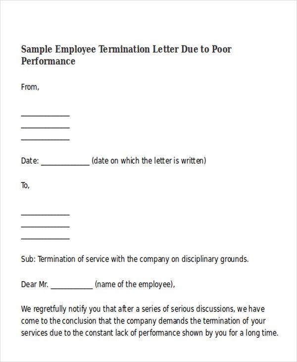Termination Letter Format Templates Free Amp Premium Sample