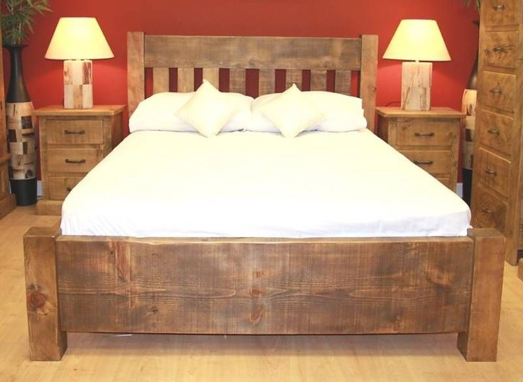 Details about NEW WOODEN DOUBLE BED RUSTIC CHUNKY PLANK SLAT SOLID WOOD. Best 20  Double beds ideas on Pinterest   Kids double bed  Double