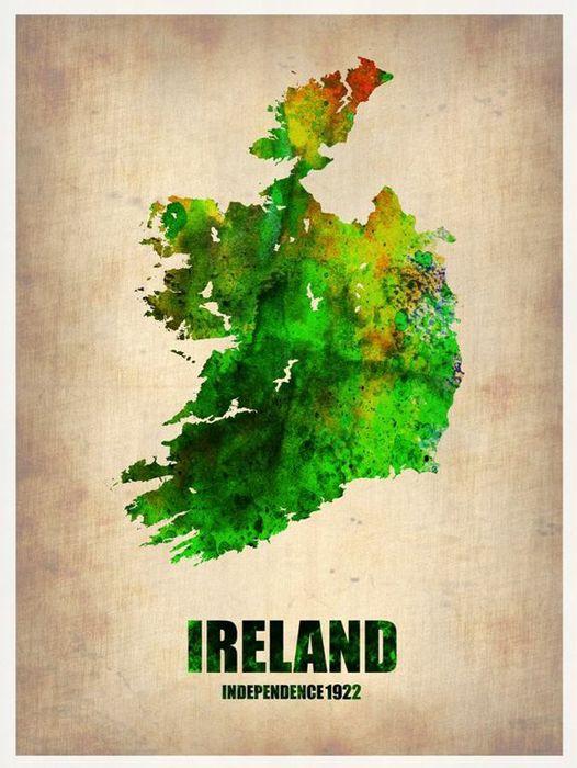 Ireland Watercolor Print