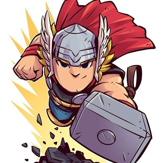 The new Thor trailer looks amazing! Can it be November already? #thorragnarok #thor #godofthunder #marvel #chibi #fanart #dereklaufman #mangastudio