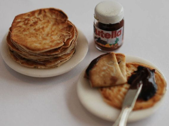 Nutella crepes by Christel Jensen: Miniatures Food, Minis Food, Miniatures Crepes, Miniatures Stuff, Minis Nutella, Polymer Clay, Nutella Crepes, Dollhouses Miniatures, Crepes Miniature
