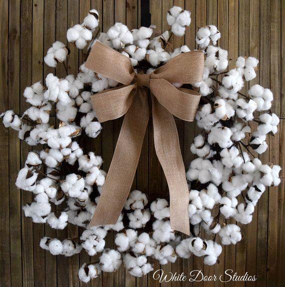 25 Unique Cotton Wreath Ideas On Pinterest Cotton Decor