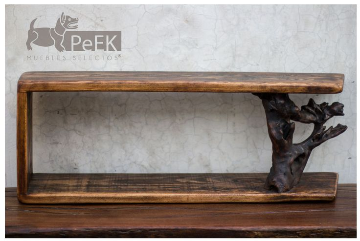 Repisa Decorativa pieza Natural Por Peek Muebles Selectos