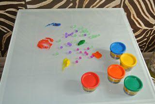 kreatywnyMaks: Jadalne malowanie maluszka :)
