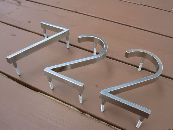 Home Depot + Modern House Numbers = Curb Appeal