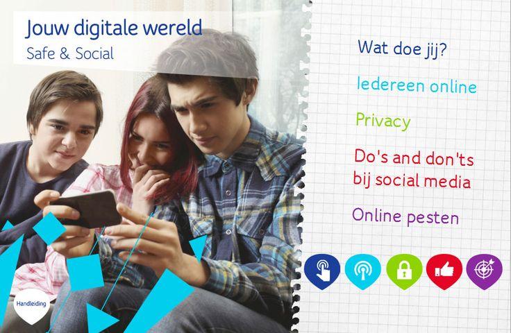 Digitaal lesmateriaal VO. Jouw digitale wereld – Safe en Social. Door UPC. Inclusief gratis handleiding en opdrachtenboekjes (tegen verzendkosten).