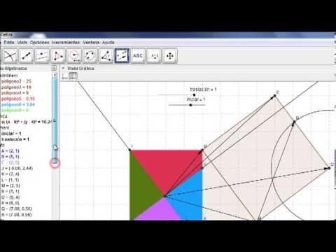 El teorema de pitagoras con GeoGebra.