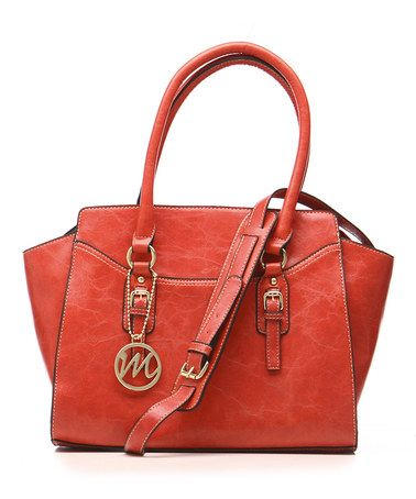 Tomato Red Morgan Satchel #zulily #zulilyfinds