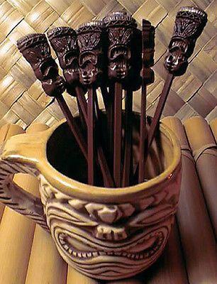 Tiki Quest Tiki Mug Swizzle Sticks Baker's Dozen | eBay
