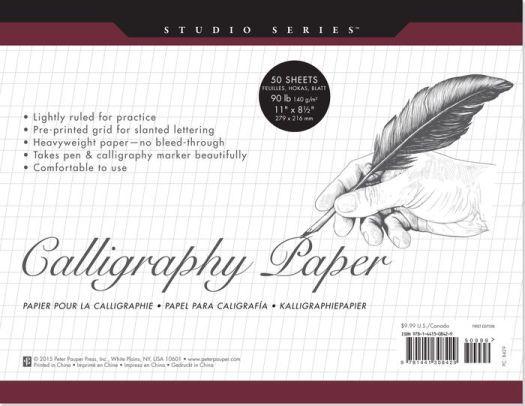 Studio Series Calligraphy Paper 8.5 x 11 | Calligraphy