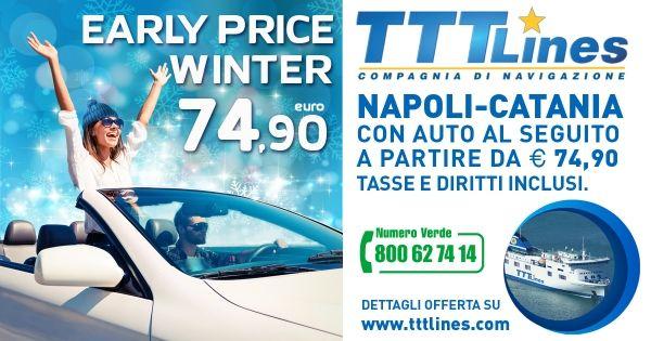 Facciamo un salto in Sicilia? Portiamo anche l'auto con #TTTLines! Molto conveniente :) #earlypricewinter #ad