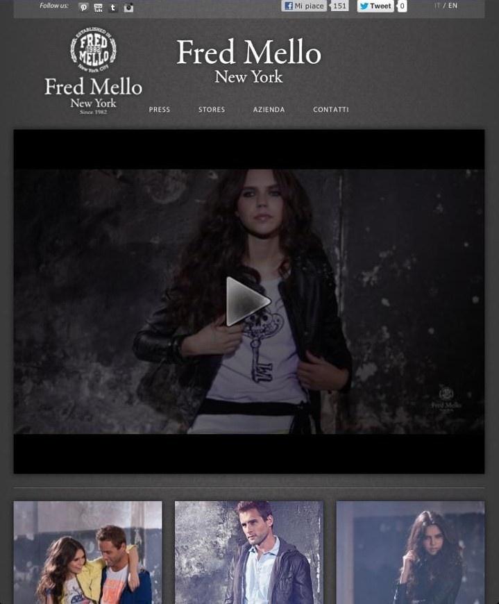 Fred Mello new website www.fredmello.it