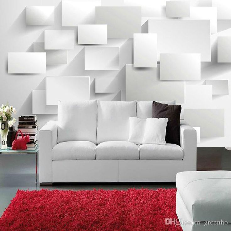 Modern 3D concise style Photo wallpaper White Space Silk Wall Mural sitting room sofa background large murals 3 D wall paper Ceiling