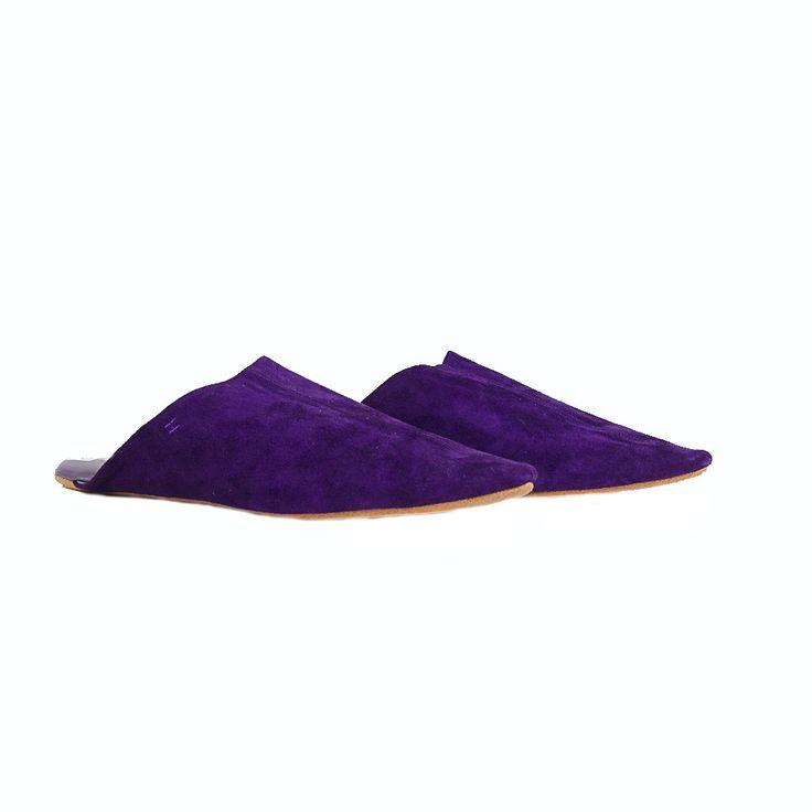 Hermes Fuchsia Moroccan Slippers