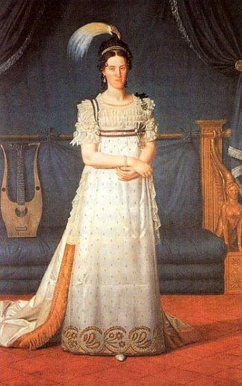 Maria Cristina of Naples and Sicily, Queen of Sardinia, ca. 1807 (Giacomo Berger) (1779-1849)  Castello di Agliè, Torino
