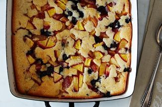 """""""Cuppa Cuppa Sticka"""" Peach and Blueberry Cobbler Recipe on Food52 recipe on Food52"""