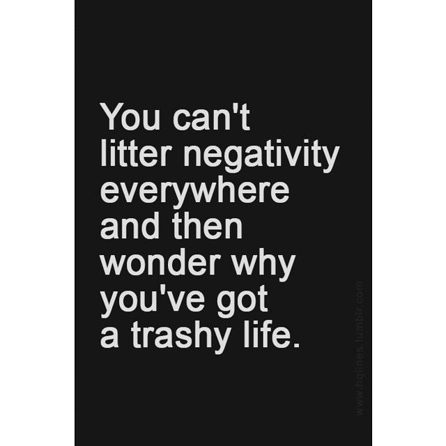 Negativity is from not feeling, then not using that feeling to open to the lesson, it is an estrangement from your soul. www.liberatingdivineconsciousness.com